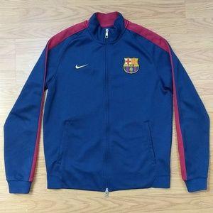 [Nike] FCB Navy Blue Zip Up Track Jacket Medium
